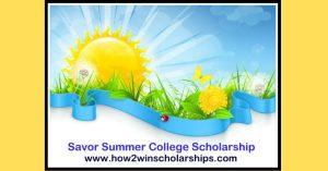 The Savor Summer College Scholarship winner has been chosen!