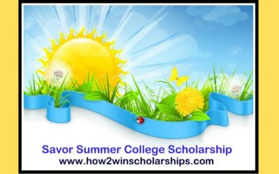 2019 Savor Summer College Scholarship Winner