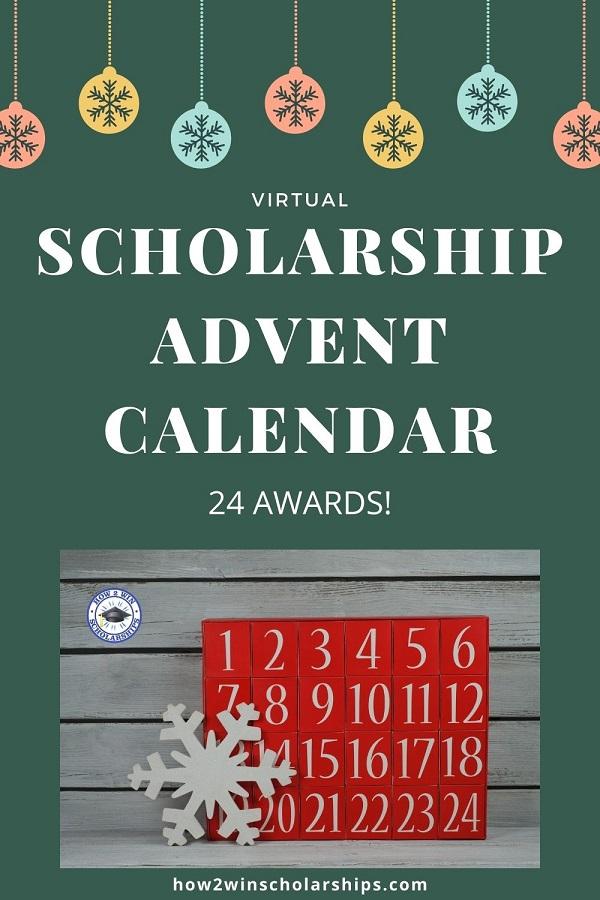 Virtual Scholarship Advent Calendar - 24 Awards for Students