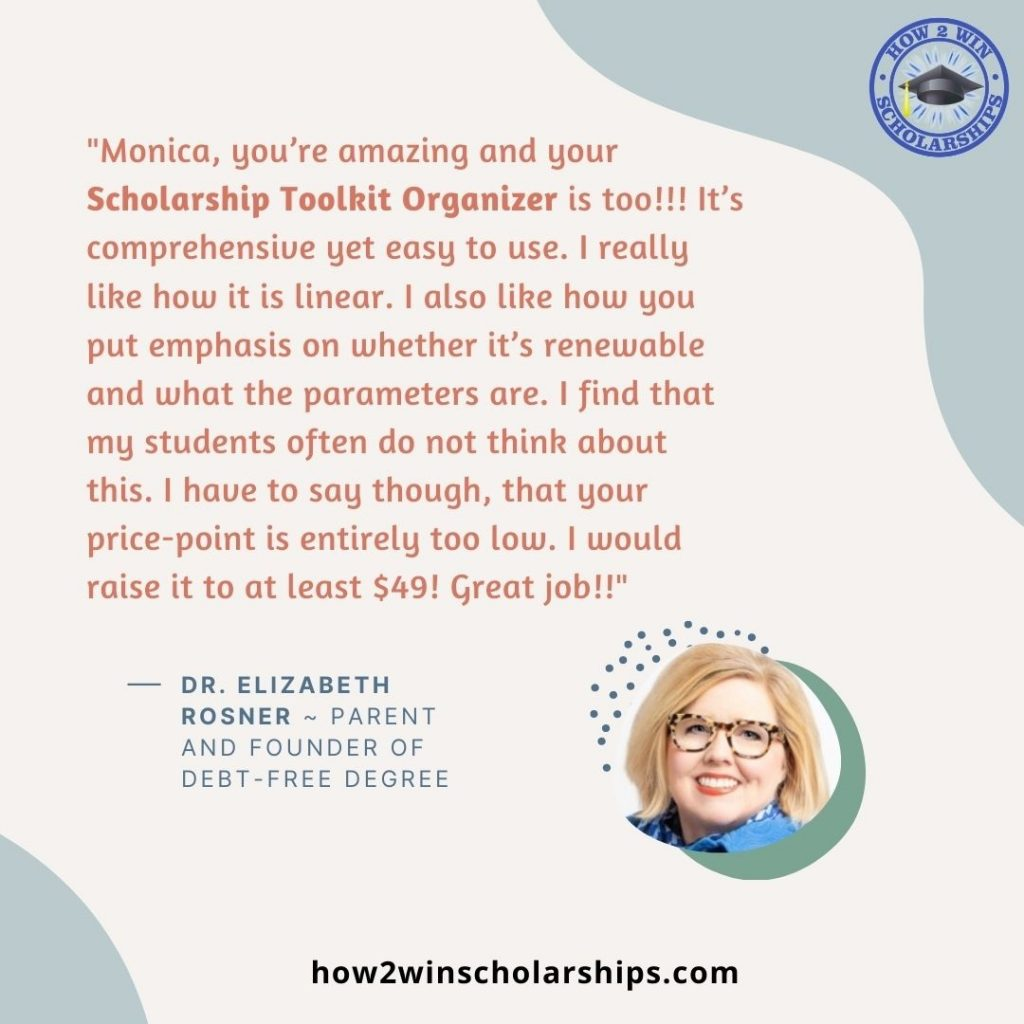 The Scholarship Toolkit Organizer is Amazing