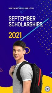 SEPTEMBER SCHOLARSHIPS - You can win them