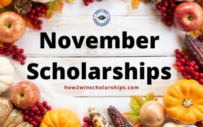 Give Thanks for these November College Scholarships